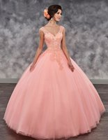 Two Piece Girls Quinceanera Dresses Tulle V- neck Mini Skirt ...