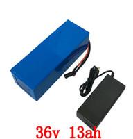 US UE Brak podatku 36V bateria litowa 500 W 36V 13AH Elektryczny bateria rowerowa z obudową PCV Używaj 2600mAh 18650 Komórka 15a BMS 42V 2A Ładowarka