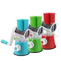 3 Renk Mutfak Gadget Sebze Kesici Dilimleyici Çok Fonksiyonlu Yuvarlak Mandoline Manuel Dilimleme Patates Peynir Mutfak Aksesuarları Sebze Aracı