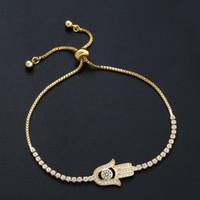 مجوهرات التجارة الخارجية الساخن فاطمة اليد مطعمة الزركون سوار هدية عيد ميلاد سوار بالجملة Brk45