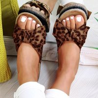 Thick Bottom Slippers Women Summer 2020 Fashion Leopard Bow ...