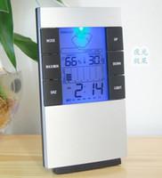 새로운 디지털 블루 LED 백라이트 온도 습도 측정기 온도계 습도계 시계
