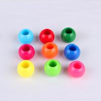 Colori pastello rotondo acrilico Pony Beads 14x11mm per perline bambini Craft Kandi Bracciale kraaltjes vetro Accessaries Fai da te perline