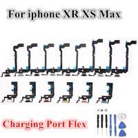 10PCS 보드 마이크 마이크 커넥터 플렉스 케이블 리본 교체 부품 아이폰 X가 최대 XR X의 포트 충전기 플렉스 충전 USB