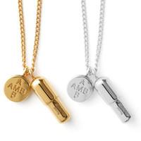 AMBUSH pillola pillola 925 collana in argento puro ciondolo in oro e gioielli femminili marea rossa netti regalo scatola originale