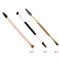 TAMAX NA014 Pennelli Bamboo Doppia Head Handle Pro Eyelash Spazzola per ciglia Strumento di bellezza cosmetico cosmetico