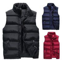 Erkek Kış Aşağı Kapitone Yelek Vücut Isıtıcı Sıcak Kolsuz Yastıklı Ceket Kaban Yeni