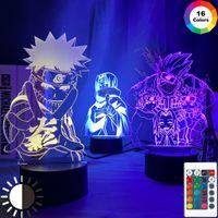 Anime Naruto Uzumaki Led-Nachtlicht Team 7 Sasuke Kakashi Hatake Kind-Schlafzimmer-Nacht Itachi Uchiha 3d Lampe Kind-Weihnachtsgeschenk