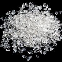 Şekil 1, torba 100 g doğal açık kristal taş kristal Eskitme Taş düzensiz küçük boyutlu kristal şifa