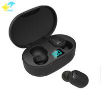 Vitog Universal Waterproof TWS E6s no ouvido fones de ouvido sem fio Bluetooth 5.0 Earbuds LED Display de jogos fone de ouvido com microfone