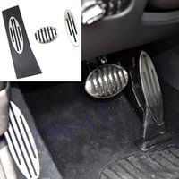 Car No drilling styling Stainless steel Footrest Gas Brake Pedal Pad Fit For MINI R56 F56 Cooper S Paceman Countryman