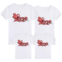 Abbigliamento per famiglie Abbigliamento 2020 Capodanno stampa estate T-shirt Mamma e figlia Padre e figlio Vestiti Famiglia Guarda