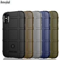 Amvykal Lüks Sağlam Kalkan Zırh Kapak For iphone 11 Pro 11pro XR X XS Max 6 7 8 Artı Darbeye Yumuşak Silikon Kılıf