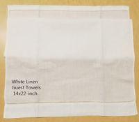 """Ev Tekstili 12 Misafir Havlu Seti 14 """"X22"""" Keten El Havlusu Işlemeli Hemstitched Sınır"""