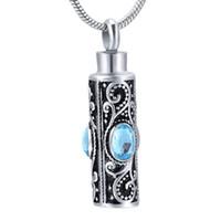 Embudo LkJ9953 caja de regalo libre, piedra del cremación joyería de perfume colgante, collar de cenizas del aceite Locket del recuerdo del Memorial urna de plata Pray