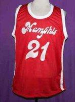 Benutzerdefinierte Männer Jugend Frauen Jahrgang Larry Finch RED Sounds RETRO 1972-1974 Startseite # Basketball-Jersey-Größe S-4XL oder benutzerdefinierten beliebigen Namen oder Nummer Jersey