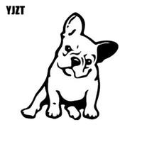 Yjzt 11.5 * 12.7cm Fransk Bulldog Dog Vinyl Decal Window Decoration Lovely Animal Car Sticker Black / Silver Gratis frakt