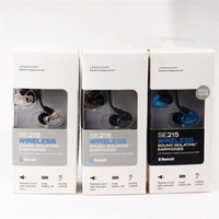 SE215 BT1 Kablosuz Kablolu Kulaklıklar 3.5 MM HIFI Kulaklık Kulak Gürültü Iptal Bluetooth Spor Kulaklık Perakende Kutusu Ile Hareketli-bobin Kulakiçi