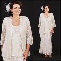 신부 플러스 사이즈 자켓 전체 레이스 스쿠프 넥 공식 착용의 신부 드레스의 어머니, 웨딩 드레스
