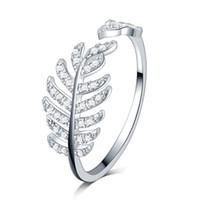 Новый лист прибытия дизайн белое золото заполнены микро Pave ясно циркон камни Свадебных обручальных колец медных девочки