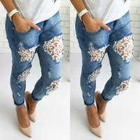 Womens Lace Hollow Out Jeans Summer Skinny Hole Female Desig...