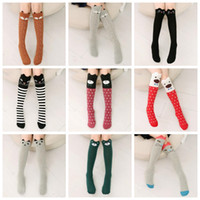 Girls Knee High Socks Fox Cotton Long Socks Princess Cartoon...