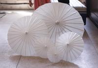 Ombrelloni da sposa Ombrelli di carta bianca Ombrello da miniera cinese 4 Diametro: 20,30,40,60 cm Ombrelli da sposa all'ingrosso