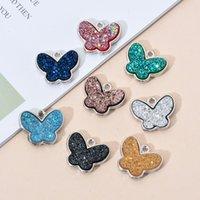 Descobertas 10PCS / Lot borboleta pendentes coloridos encanto Pequenos Animais Moda DIY Artesanato Jóias fazendo entregas para as Mulheres