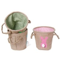 DIY Easter Basket Monogrammable Rabbit Bucket Burlap Bunny B...