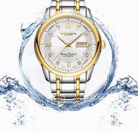 Carnival Швейцария механические часы мужские сапфира стали водонепроницаемые мужские часы топ бренда роскошь ERKEK кол- Saati Релох часы