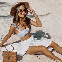 Ashgaily 2020 neue Ankunfts-reizvolle hohe Taillen-Bikini-Badebekleidung Frauen-Badeanzug-Bikini-Satz Bodysuit-Badeanzug Sommer biquini Drucken