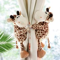 2pcs Jungle Forest Animals cortina de Tieback titular ganchos de amarre Backs sitio de niños de Decoración Accesorios cortina de retención correas T200601