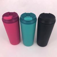 12 UNZE Tumbler Kreative Doppelwandige Kunststoff auslaufsichere Nicht auslaufende Tasse Tragbare Sportwagen Wasserflasche Tasse mit Sauger
