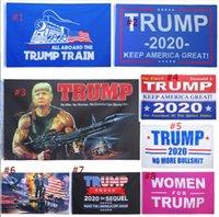 8 Stilleri Moda Trump 2020 Bayrağı 90 * 150 cm Klasik Donald Amerika Tutmak Büyük Dijital Baskı ABD Banner Ev Partisi Dekor