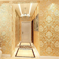 Mode Vliestapete Moderne 3D-Beflockung Tapeten Rolls für Schlafzimmer TV Hintergrund Wandhauptdekor-Wand-Papier