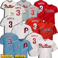 3 Bryce Harper Jersey Filadélfia Baseball Phillies Jerseys 10 Darren Daulton Jersey 20 Mike Schmidt Jerseys 99 Mitch Williams 7 Franco