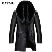 BATMO 2020 nouvelle arrivée hiver de haute qualité réelle cols de fourrure en cuir trench hommes manteau, hiver hommes Laine Liner parkas AL18