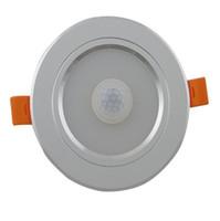 20pcs 7W 15W encastré conduit lampe de plafond Détecteur de mouvement à micro-ondes radar Lumière d'escalier Porche Coursive éclairage aluminium Downlights