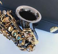 أفضل نوعية ياناجيساوا S-991 الأسود منحني سوبرانو الساكسفون الموسيقية آلات موسيقية ساكس مع لسان الحال الرقبة هدية