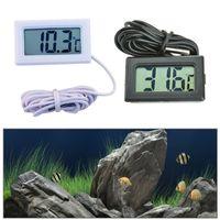 شاشة LCD رقمية ميزان الحرارة ثلاجة ثلاجة برادات حوض السمك FISH TANK درجة الحرارة -50 ~ 110C GT أسود أبيض اللون