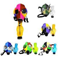 Silicone Mask Tubo Bong creativo Maschera acrilico tubo di fumo Maschera antigas bong acrilico Tubi di trasporto di goccia