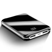 السلطة البنوك القادمون الجدد ثنائي المنافذ 2A 10000mAh المحمولة USB حزم البسيطة تجدد powerbank شاحن الهاتف الخليوي السلطة البنوك