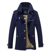 All'ingrosso del rivestimento del cappotto del rivestimento di primavera e autunno gli uomini giacca casual da uomo lavato lungo tuta sportiva di inverno cappotti da uomo in cotone giacche parka giù