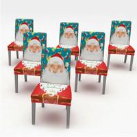 1PC Frohe Weihnachten Stuhl-Abdeckung elastischer Sitz Traversenhusse Xmas Party Wohnkultur Tischdecke