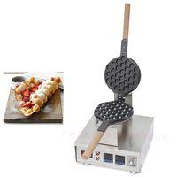 コミカルなデジタルバブルワッフルメーカー電気香港卵ワッフルメーカーパフワッフルマザーマシンバブルエッグケーキオーブン