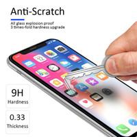 Vente en gros 9H 0.33mm Couvercle de colle complet Film de téléphone portable pour iPhone 12 Protecteur d'écran en verre trempé incurvé