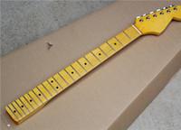 도매 사용자 정의 일렉트릭 기타 노란색 메이플 목 레트로 튜너, 21 프렛, 메이플 fretboard, 맞춤 서비스 제공