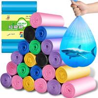 5 Rolls 100Pcs Hanehalkı Kullanılabilir Çöp Kese Mutfak Depolama Çöp Torbaları Plastik Çevre dostu Çöp Torbaları Çöp Dağıtıcı FY7013