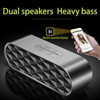 Smart Bluetooth Speaker Doppio Corno doppio Chip Bass Denoising 360 gradi Stereo Surround Sound portatile ad alta definizione della carta di TF di chiamata vocale Tips
