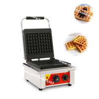 Trasporto libero 2-slice commerciale uso antiaderente 110v 220v piazza elettrica belga waffle ferro macchina Maker Baker